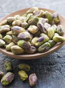 Dish of Pistachio Nuts Stock Photos