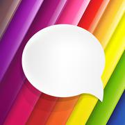 Color background with speech bubble Stock Illustration