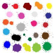 color blobs stains set - stock illustration