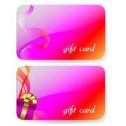 Color gift card set Stock Illustration