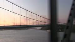Carquinez bridge, sunset Stock Footage