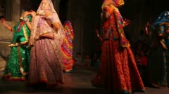 Dances of India - view in Udaipur Rajasthan Stock Footage