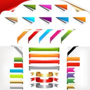 Corners and ribbons Stock Illustration