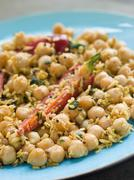 Chick Peas and Coconut with Chilli Stock Photos