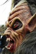 fashion costume fear krampus mask ugly in bad - stock photo