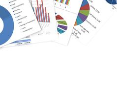 Business charts and graphs Stock Photos