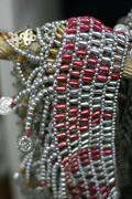 fashion design jewellery silver society nuweiba - stock photo