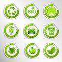 Eco labels set Stock Illustration