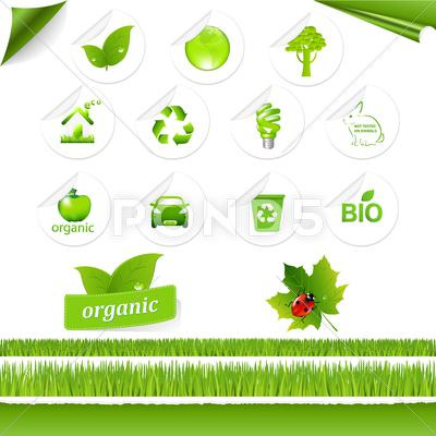 Stock Illustration of eco set