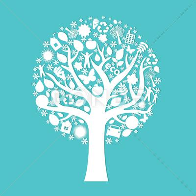 Stock Illustration of eco tree