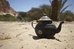Ain khudra desert teapot drink food landscape Stock Photos