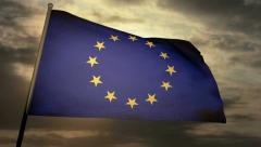 Flag Europe 05 Stock Footage