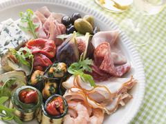 Platter of Antipasto - stock photo