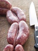 Tuscan sausage in Links Stock Photos