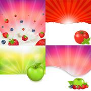 Fruit and berries Stock Illustration