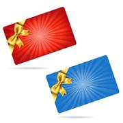 Gift cards with gift bows Stock Illustration