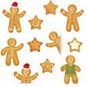 Gingerbread cookies set Stock Illustration
