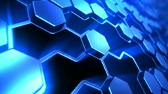 Hexagon technology background - stock footage