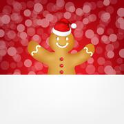 Stock Illustration of gingerbread with bokeh
