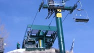 Looking up at the ski lift. Stock Footage