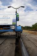 handcar rail track traffic train sterreich - stock photo