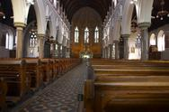 Stock Photo of church interior view sacral building society