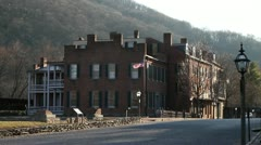 Harpers ferry street american flag (20 of 20) Stock Footage