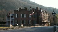 Stock Video Footage of harpers ferry street american flag (20 of 20)