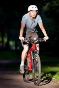 mountain biker - stock photo