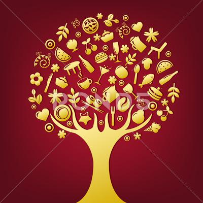 Stock Illustration of gold tree