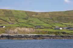 green landscape sea irish water allihies county - stock photo