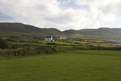 Green hill landscape irish allihies county cork Stock Photos