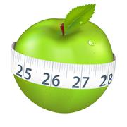 Stock Illustration of green apple with measurement