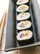 Large Spiral Rolled Sushi Stock Photos