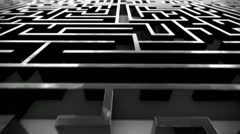 Succes maze. Coices confusion journey solution complexity labyrinth challenge  - stock footage