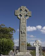 Stock Photo of cemetery high cross celts death religion society