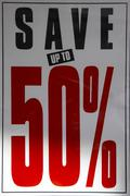 money discount sale save 50 economy trade saving - stock photo
