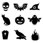 Halloween icons Stock Illustration