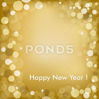Stock Illustration of happy new year golden vector background