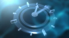 Glass Clock Animation Stock Footage