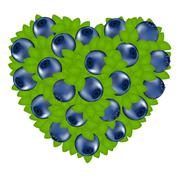 Heart from bilberry Stock Illustration