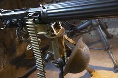 Gun round war weapon machine munitions belt Stock Photos