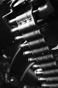 Black white gun round war weapon muntions belt Stock Photos
