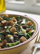 Silverbeets Sultanas and Pine Nuts - stock photo