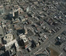 Aerial shot of downtown Salt Lake City Stock Footage