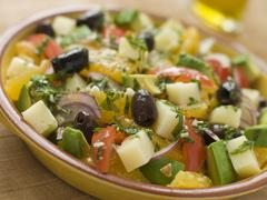 Bowl of Valencian Salad Stock Photos