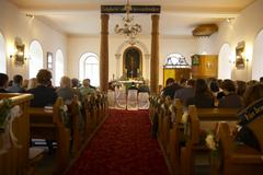 Stock Photo of church wedding religion sacral building society