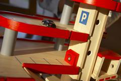 Design house beauty parking garage toy game rule Stock Photos