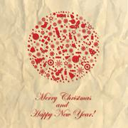 Stock Illustration of merry christmas crushed paper