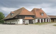 farmstead in southern germany - stock photo